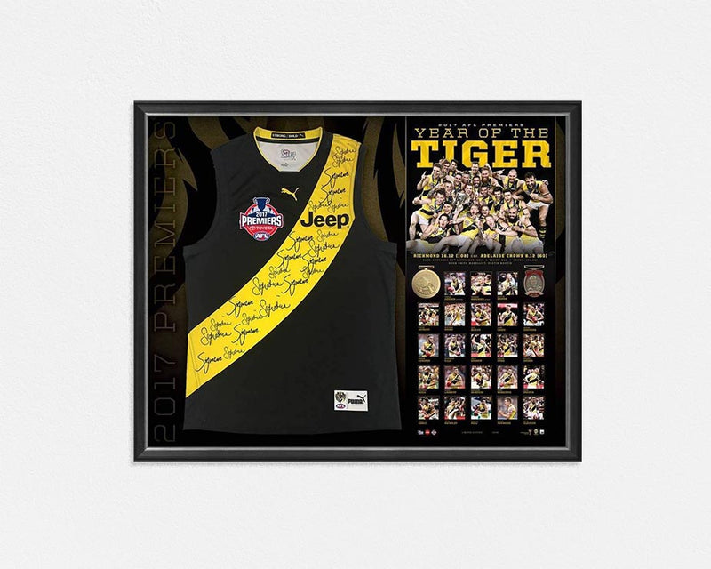 RICHMOND TIGERS – 2017 AFL GRAND FINAL PREMIERSHIP SIGNED AND FRAMED JUMPER