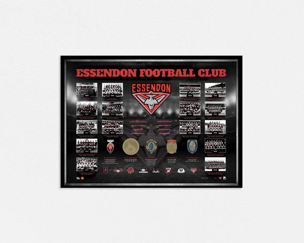 Essendon Historical Series Premiership AFL Licensed Print Framed - 1883