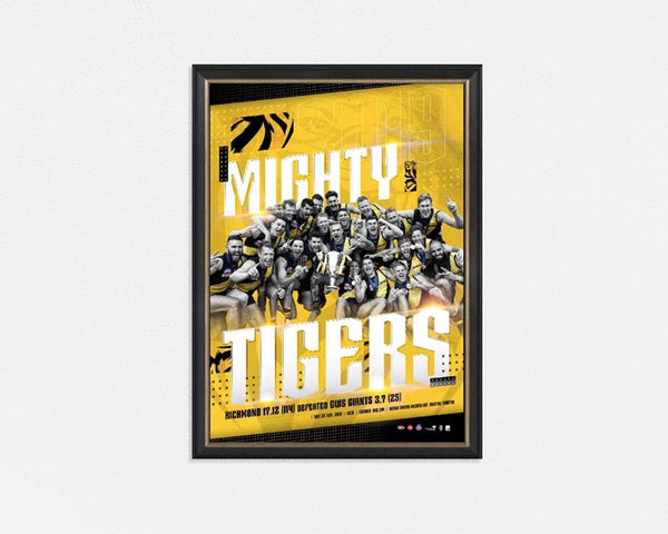 Richmond 2019 AFL Premiers 'The Mighty Tigers' Print FRAMED