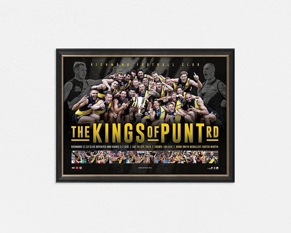 Richmond 2019 Premiers framed KINGS OF PUNT RD