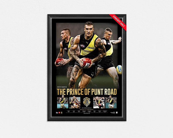 RICHMOND TIGERS – DUSTIN MARTIN 2017 BROWNLOW MEDAL PRINCE OF PUNT ROAD SPORTSPRINT