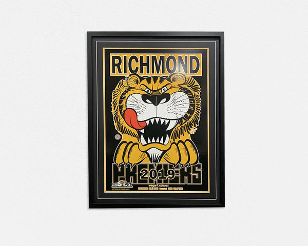 Richmond 2019 WEG Art Poster Framed Herald Sun Knight Premiers