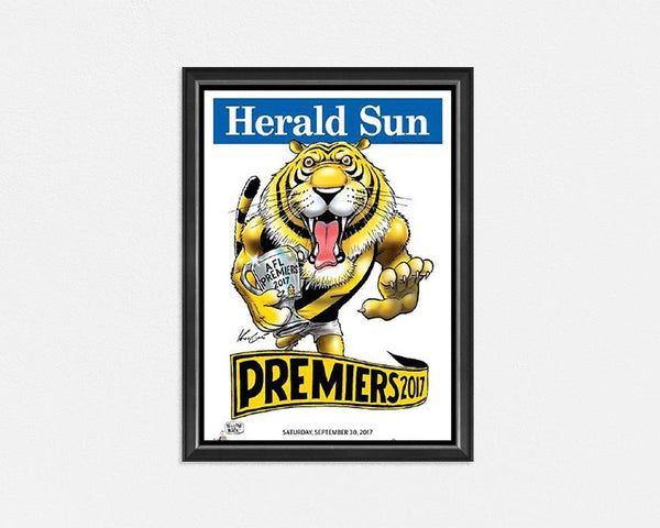 RICHMOND TIGERS – 2017 AFL GRAND FINAL PREMIERSHIP MARK KNIGHT FRAMED PRINT