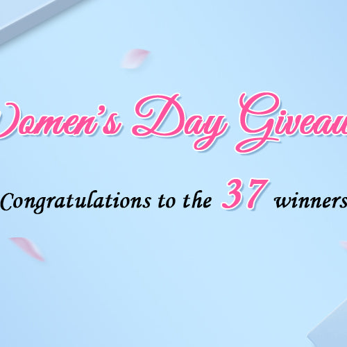Winners for Women's day Giveaways