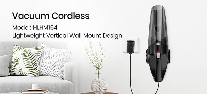 holife handheld vacuum hlhm164 wall mount design