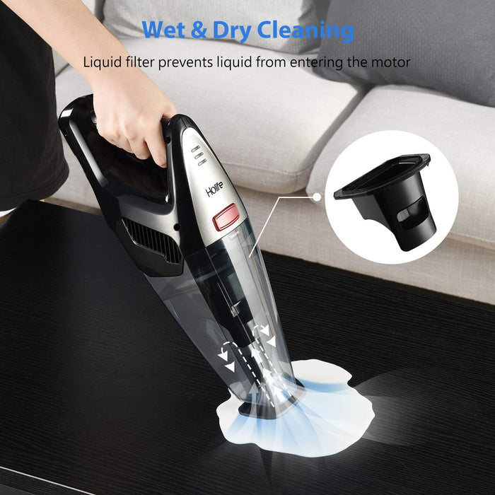 8000PA Suction, Handheld Vacuum Cordless, Remove germs, Washable Filters, Wet Dry Vacuum, HoLife