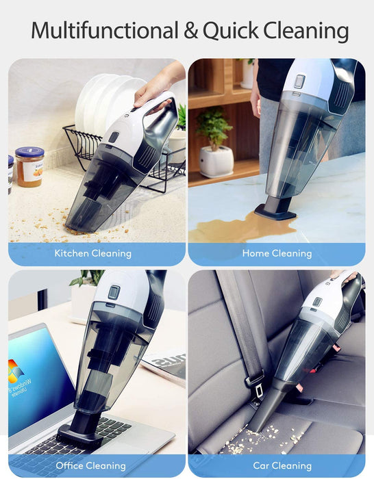 7Kpa Suction, best amazon handheld vacuum, for Car Cleaning, for Pet Hair, Handheld Vacuum Cordless, HEPA Filters, Remove germs, Wet Dry Vacuum, Holife