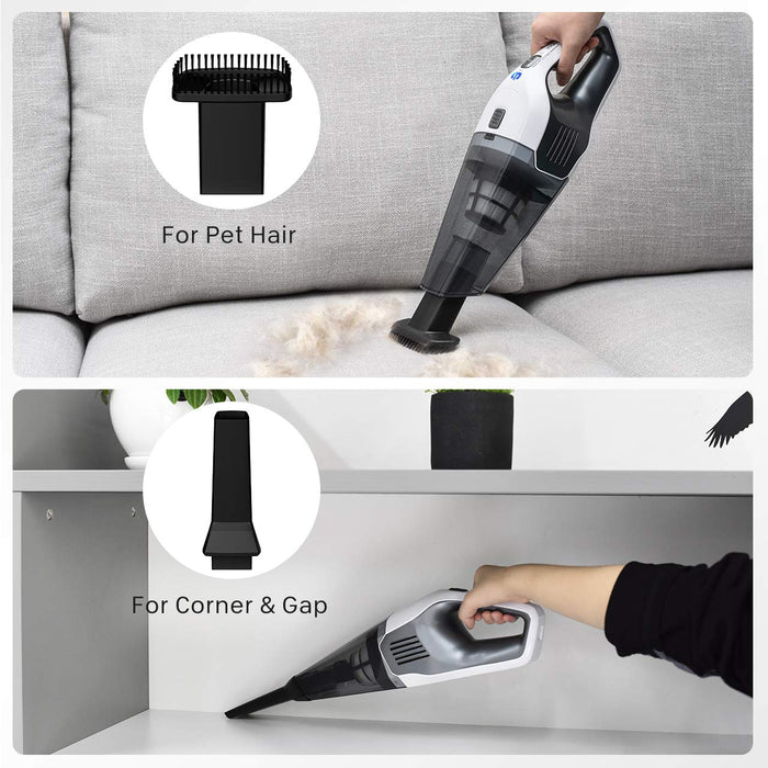 4000PA Suction, Handheld Vacuum Cordless, HEPA Filters, Remove germs, Wall Mountable Design, Holife