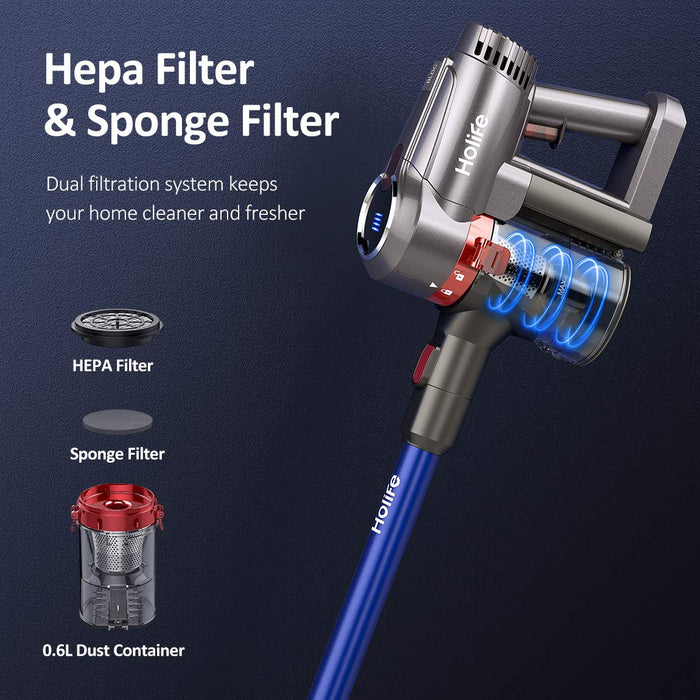 Holife HLHM322 Stick Cordless Vacuum with HEPA & Sponge filter