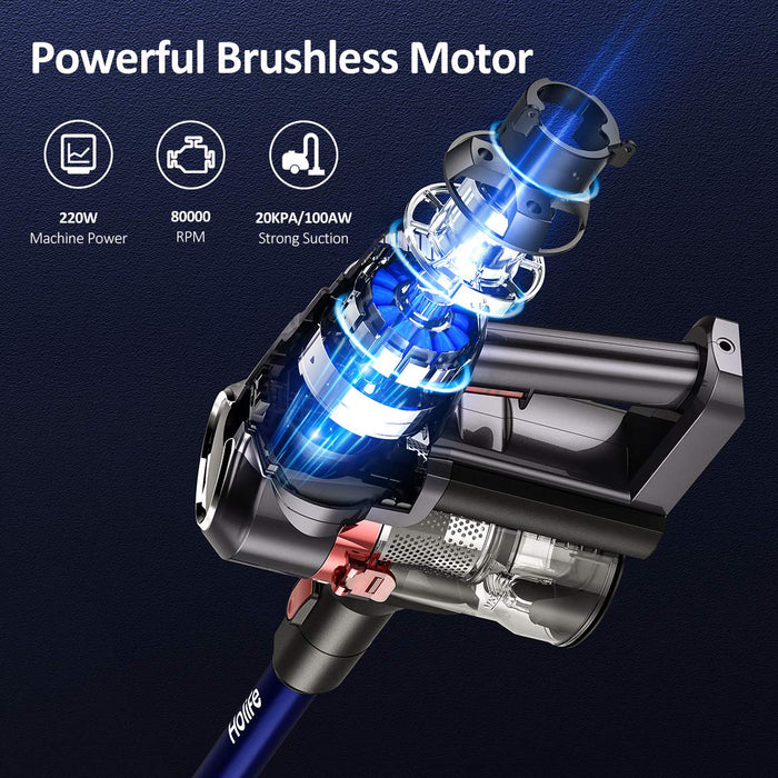 2-in-1 Upright Handheld Vacuum, 20kpa, 220W Motor, for Car Cleaning, for Pet Hair, Handheld Vacuum, HEPA Filters, HoLife