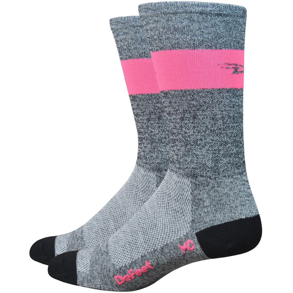 "Aireator SL 6"" Grey Heather w/ Flamingo Pink Stripe"