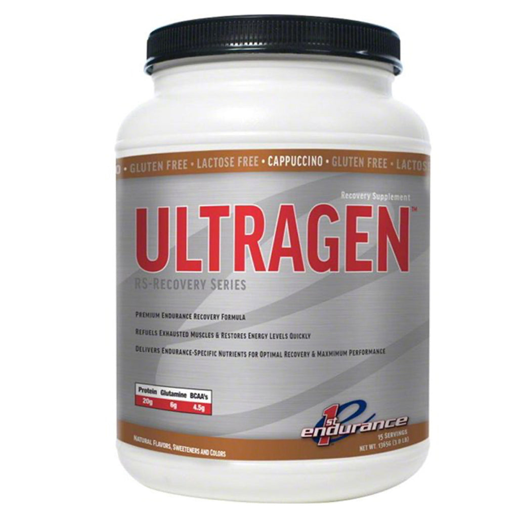 First Endurance ULTRAGEN Recovery: Cappuccino 15 Serving Canister