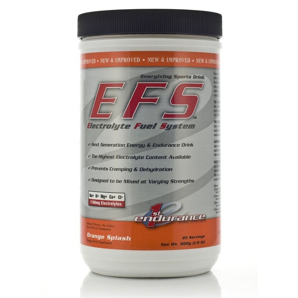 First Endurance EFS Drink Mix: Orange Splash 25 Serving Canister