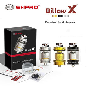 Original Ehpro billow X RTA Tank Top Filling 4ML 5.5ML Rebuildable Atomizer 810 wide bore drip tip E-cigarette atomizer RTA tank