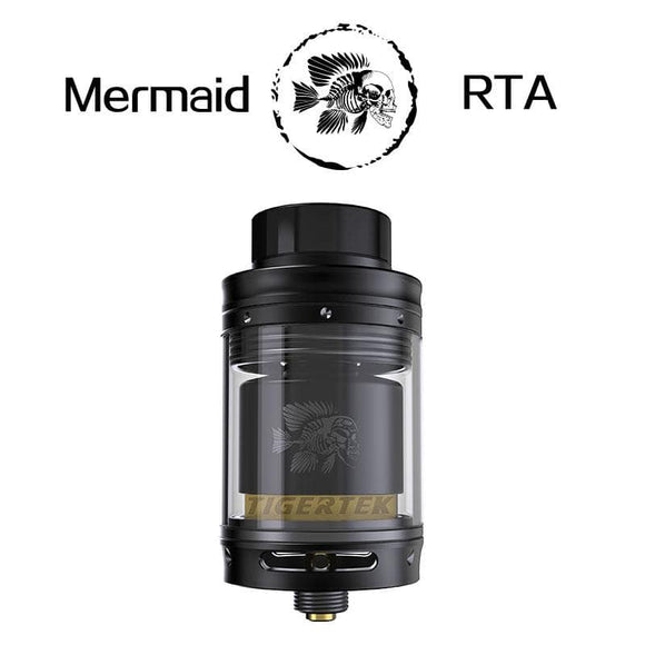 Original Tigertek Mermaid RTA tank electronic cigarette atomizer vape tank 24mm RDTA Rebuildable atomizer 3.5ml Standard / TPD
