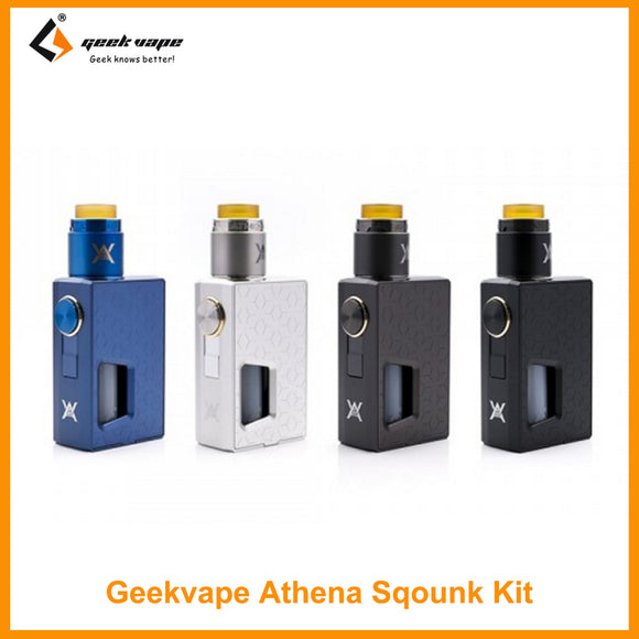 GeekVape Athena Squonk Kit With Athena RDA Atomizer By Single 18650 Battery Not included 510 Drip Tip - ParadiseVapors.online