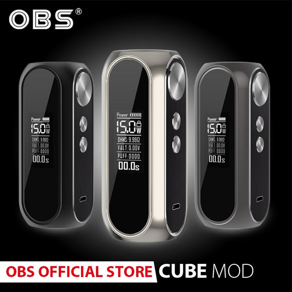 Original OBS cubemod 3000mah Built-in Battery  80w Output e-cigarette box mod