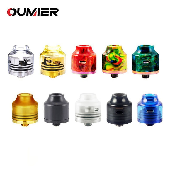 Original OUMIER WASP NANO RDA Big Deck Rebuildable Tank 22mm Diameter Adjustable Bottom Airflow NANO RDA with Resin Color Tank - ParadiseVapors.online