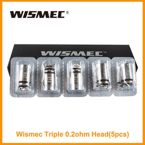 Original Wismec Amor Mini Atomizer Head (5pcs) 0.2ohm Head Reux mini/Elabo Triple For Wismec Amor Mini Atomizer Vape E-Cigarette - ParadiseVapors.online