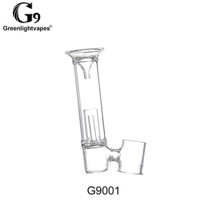 Greenlightvapes G9 Mouthpiece Glass Water Filter Pipe Bubbler Adapter Attachment for 510 Nail / Henail Plus /Mini Henail/TC Port - ParadiseVapors.online