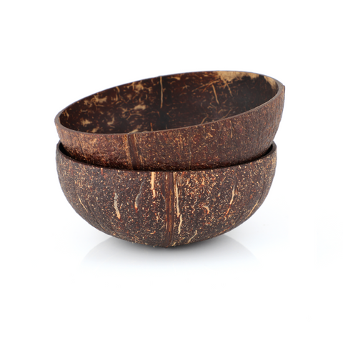 Twin Rustic Coconut Bowl | By Coconarts