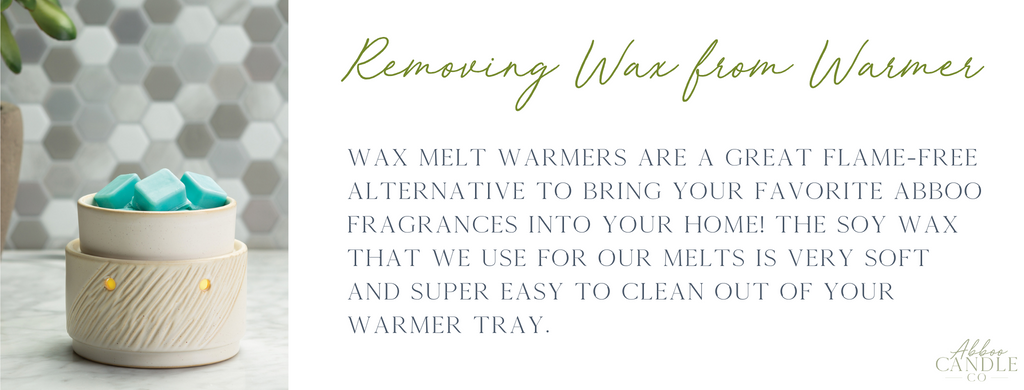 How to remove wax from a wax melt warmer by Abboo Candle Co
