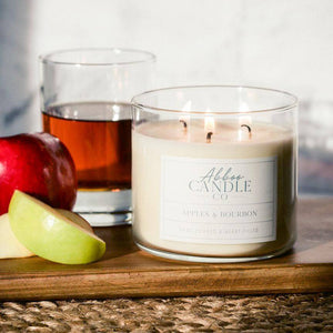 Apples & Bourbon 3-Wick Soy Candle by Abboo Candle Co|$34.49