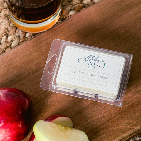 Apples & Bourbon Soy Wax Melts by Abboo Candle Co|$6.49