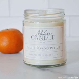 Basil and Mandarin Lime - Abboo Candle Co