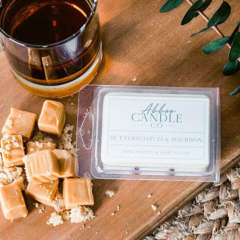 Butterscotch & Bourbon Soy Wax Melts by Abboo Candle Co|$6.49
