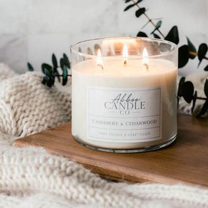 Cashmere and Cedarwood 3-Wick Soy Candle