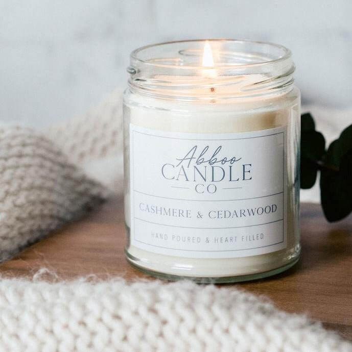 Cashmere & Cedarwood Soy Candle by Abboo Candle Co|$15.99