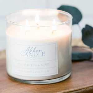Eucalyptus and Mint 3-Wick Soy Candle