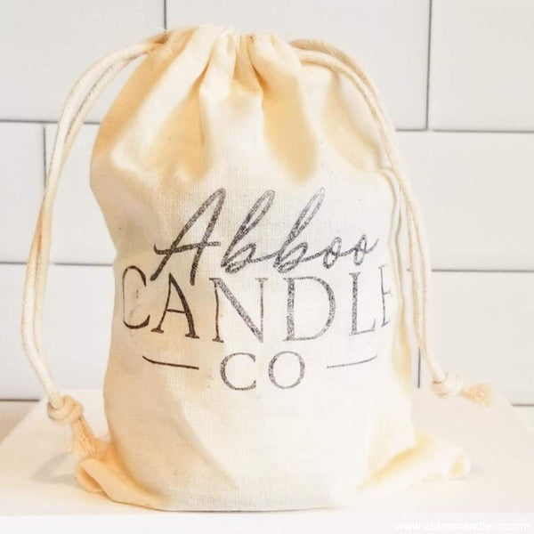 Cotton Hand Stamped Reusable Gift Bags by Abboo Candle Co|$1.5