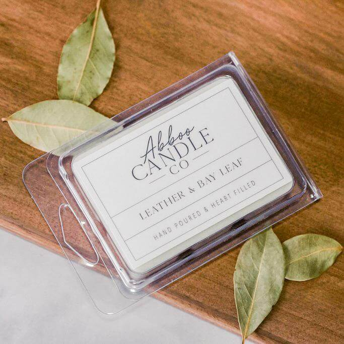Leather & Bay Leaf Soy Wax Melts by Abboo Candle Co|$6.49