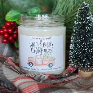 Christmas Red Tree Truck Soy Wax Candle by Abboo Candle Co|$15