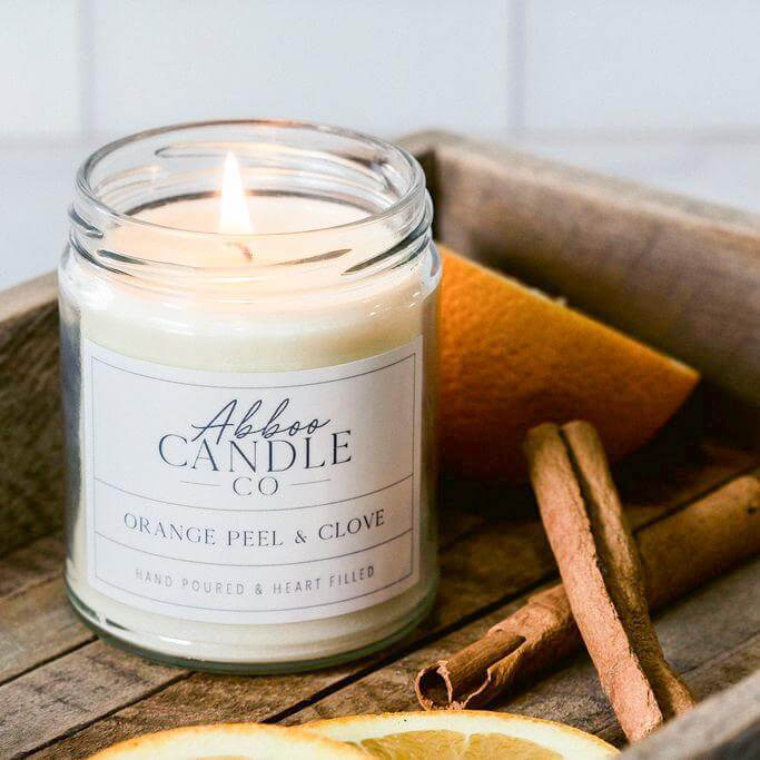 Orange Peel & Clove Soy Candle by Abboo Candle Co|$15.99