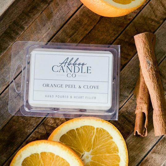 Orange Peel & Clove Soy Wax Melts by Abboo Candle Co|$6.49