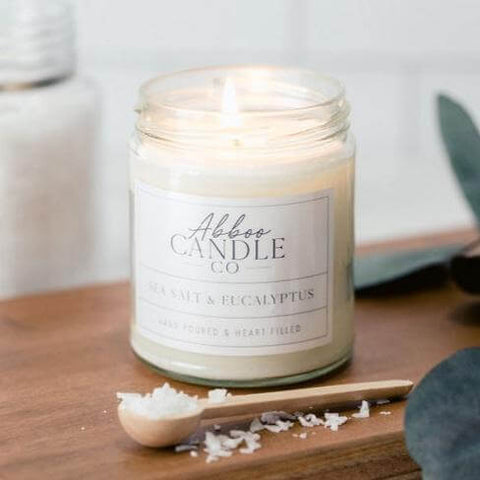 Sea Salt and Eucalyptus Soy Candle