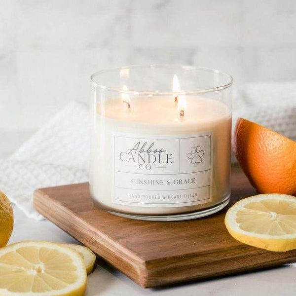 Sunshine and Grace 3-Wick Soy Candle
