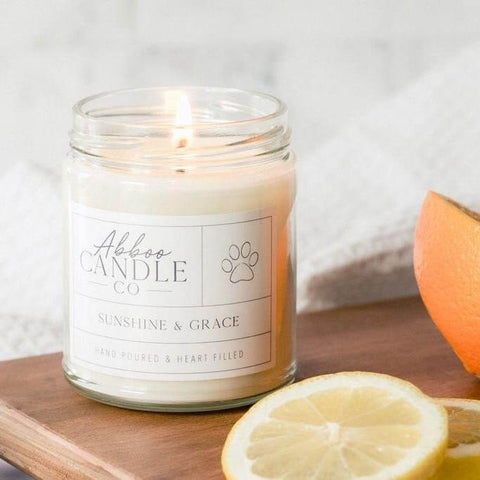 Sunshine & Grace Soy Candle by Abboo Candle Co|$15.99