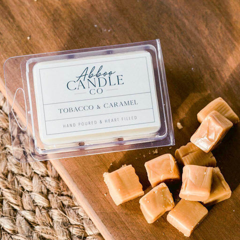 Tobacco & Caramel Soy Wax Melts by Abboo Candle Co|$6.49