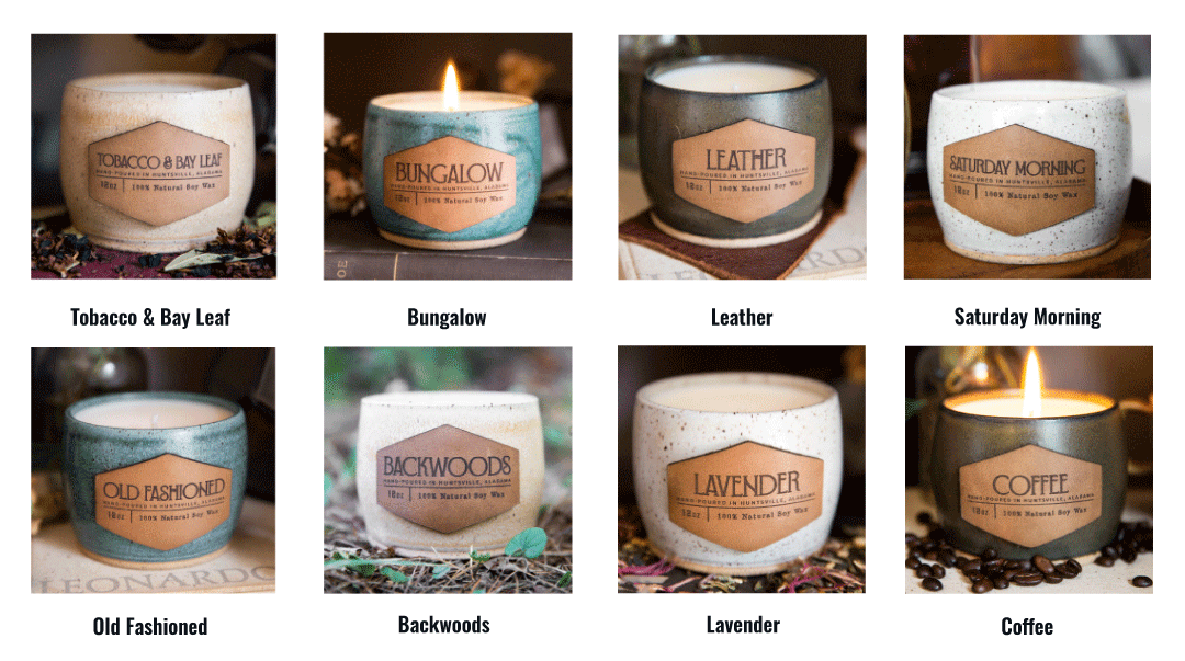 Leather Patch Candles Scents