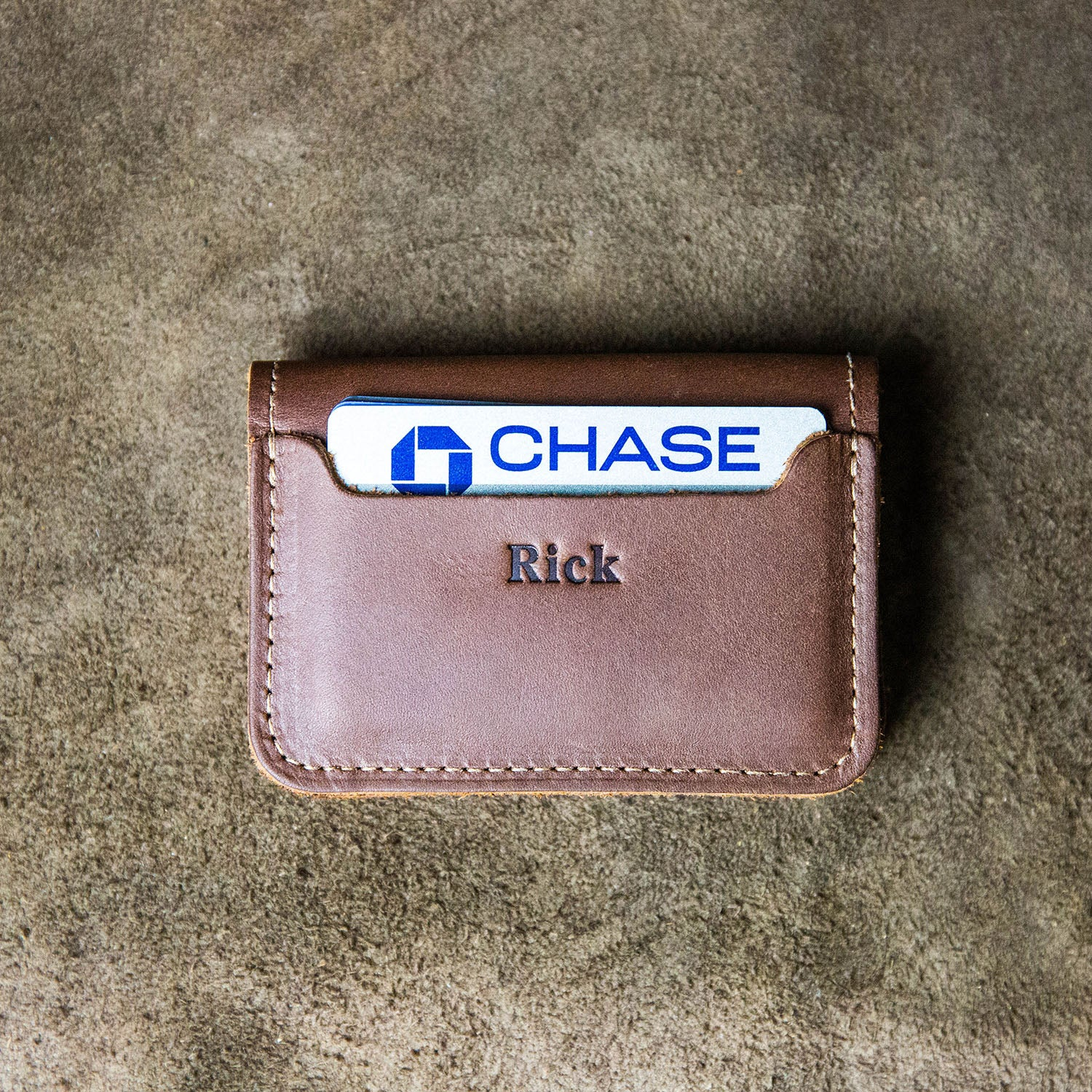 1bda7cda The Gates Personalized Fine Leather Bifold Money Clip Wallet