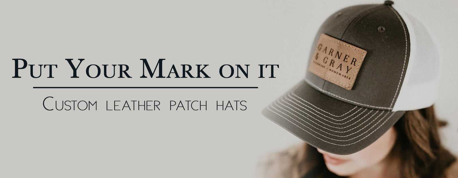 Custom Leather Patch Hats - Hats for Adults & Kids with Logo