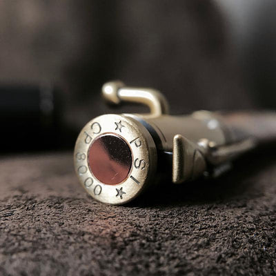 Hand-Turned Rose Wood .30 Caliber Bolt Action Pen + Pen Sleeve