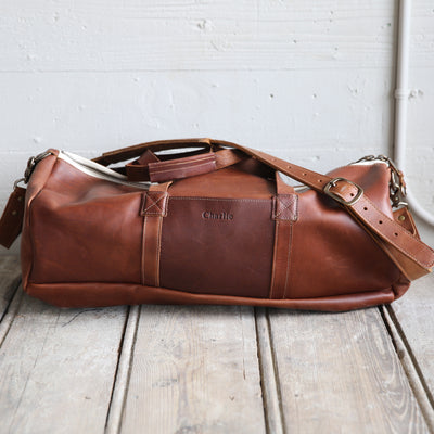 The Vintage Overnighter Bag Personalized Fine Leather Overnight Bag