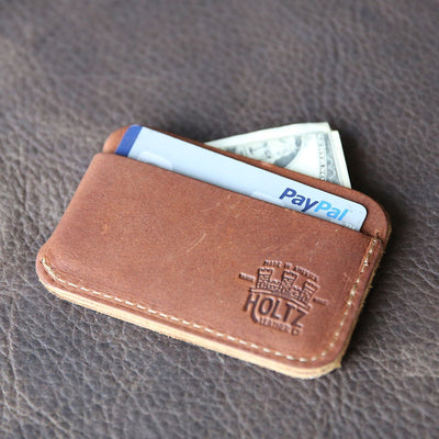 The Officially Licensed Auburn Charleston Personalized Fine Leather Triple Sleeve Front Pocket Wallet