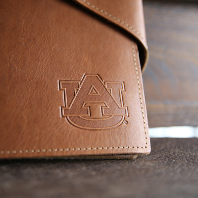 The Officially Licensed Auburn Langley Fine Leather 3 Ring Binder, Notebook, Photo Album, 1.5″ Binder