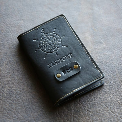The Expedition Personalized Leather Passport Cover